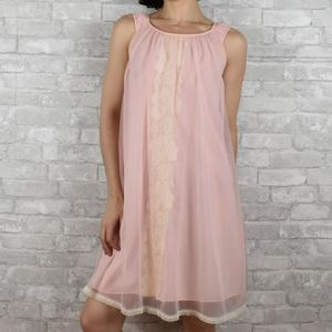 Vintage small blush pink babydoll lingerie slip